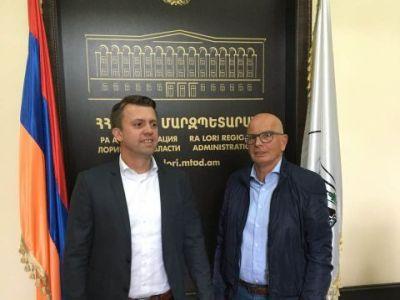 working visit Vanadzor Armenia.  Keven (VDL Agrotech) Morris (HTS)