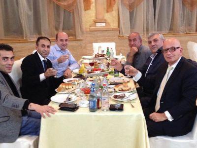 deal is closed, Yerevan. Morris, Mushegh (HTS) Sergey Stepanyan (pres. union Poultry Farmers) B